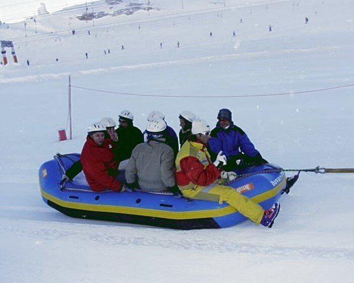 Snowrafting Zugspitze